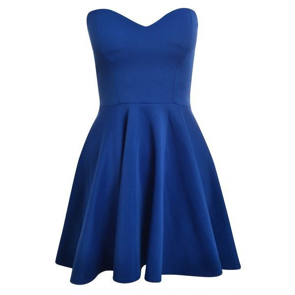Royal Blue Bandeau Dress