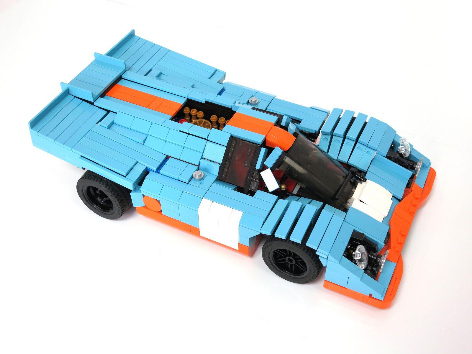GulfPorsche 917 (1970 spec) Lego cars, Porsche 917, Lego