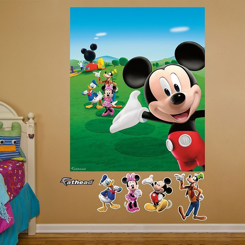 Disney Mickey Mouse Peel & Stick Wall Decals | Disney wall ...