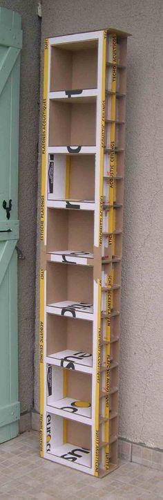 Tutoriel: Comment fabriquer un meuble en carton - Céline Kart\'on ...