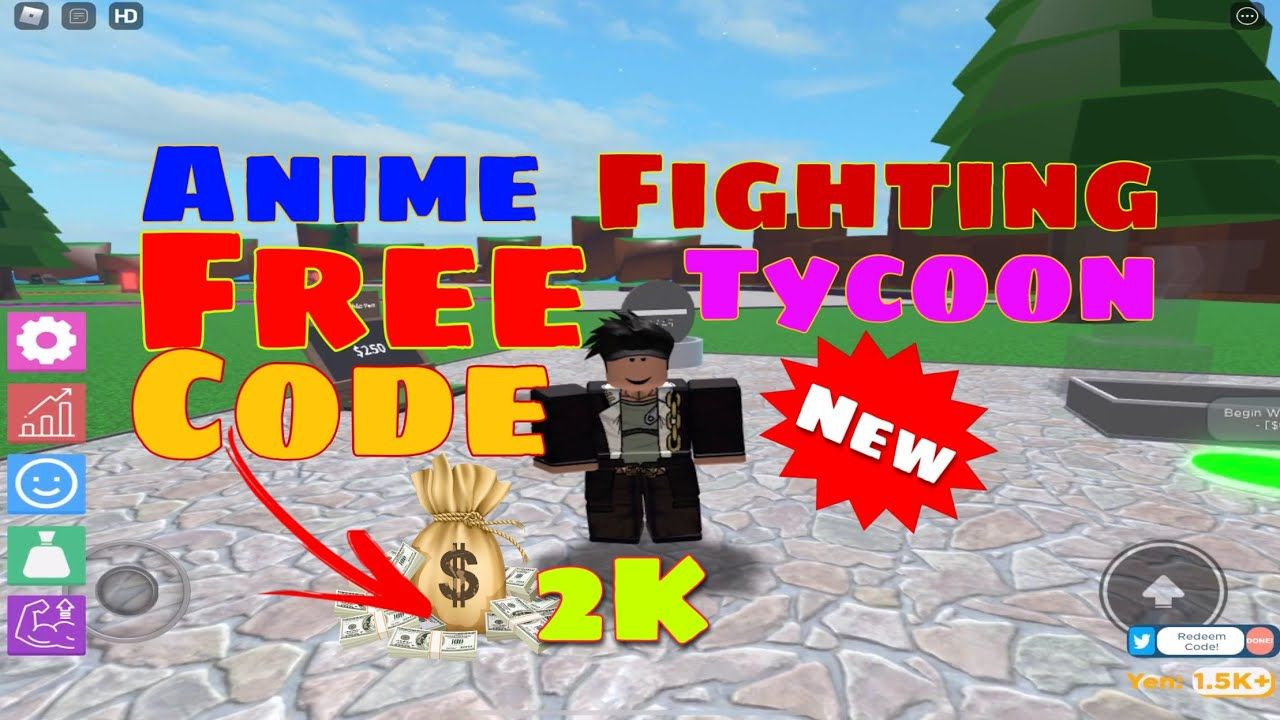 New free code anime fighting tycoon by mrmark_9 gives