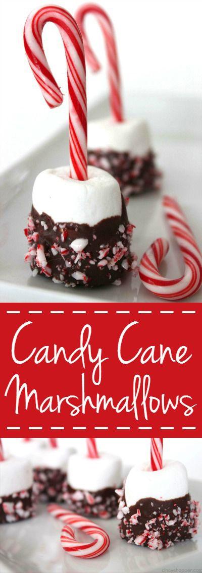 Candy Cane Marshmallows #marshmallows