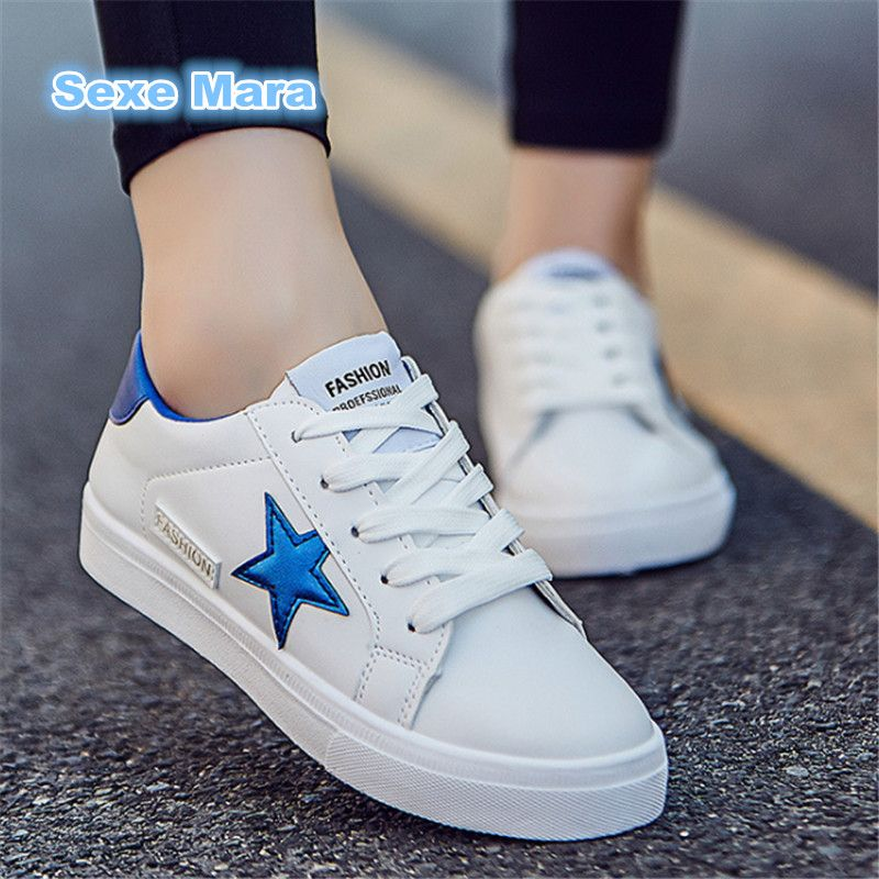 2017 Brand Outdoor couples Women Flat Casual Walking shoes PU size 35-44  superstar shoes