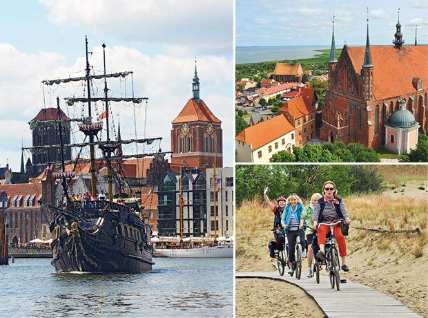 Der alte Hafen von Danzig, das Städtchen Frombork & radeln auf der Kurischen Nehrung