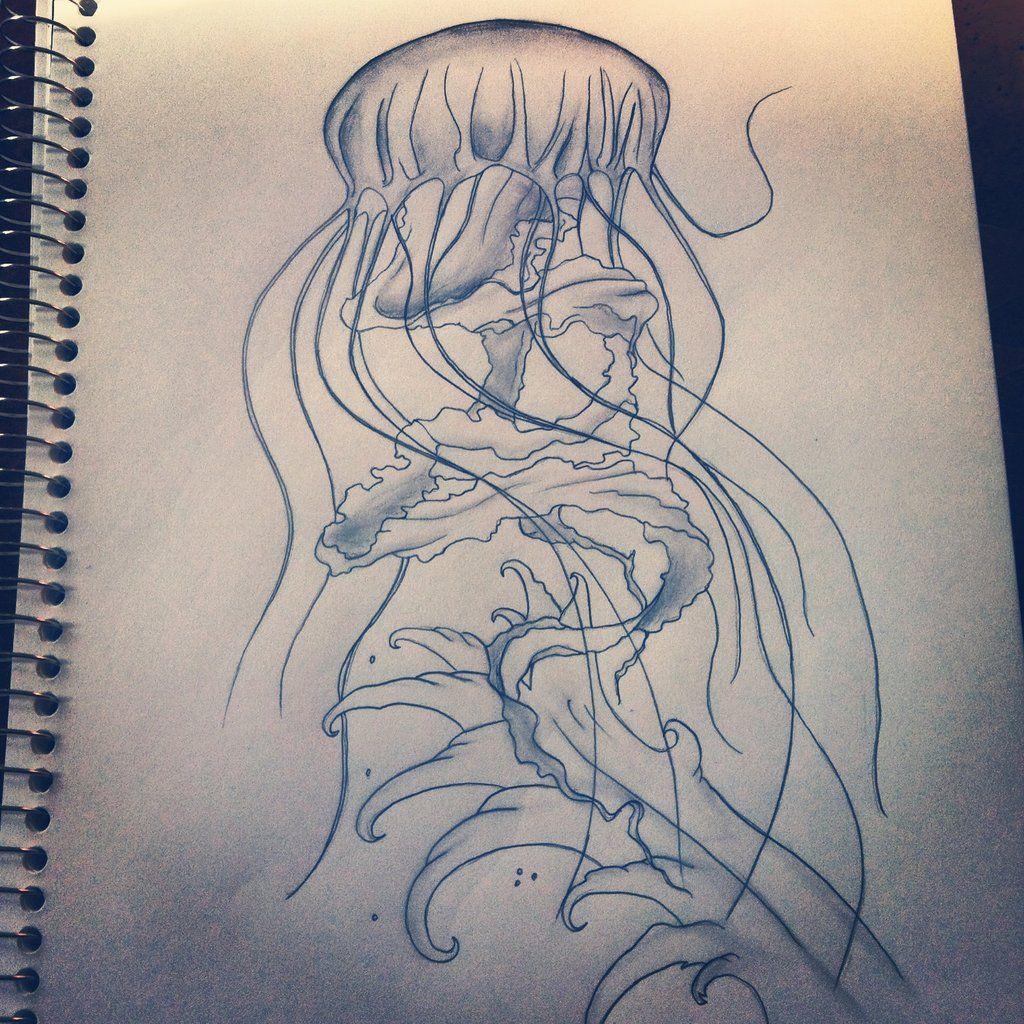 Jellyfish Tattoo Sketch Jellyfish Tattoo Sketch