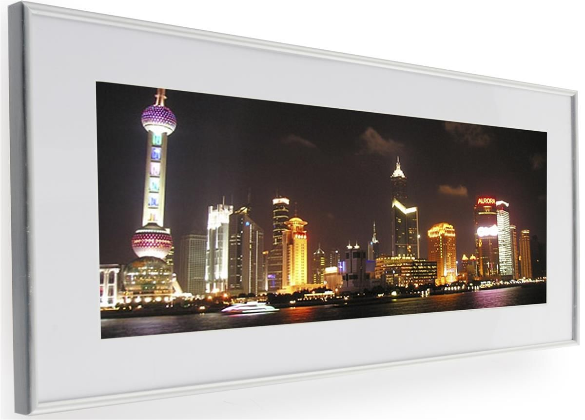 24 X 10 Matted Panoramic Frame For Wall Mount Use Aluminum Silver Picture Frames Frame Panoramic