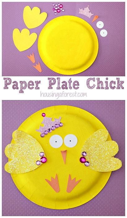 Paper Plate Chick ~ Easter Crafts for Toddlers  sc 1 st  Pinterest & Paper Plate Chick ~ Easter Crafts for Toddlers | pasen/villa ...