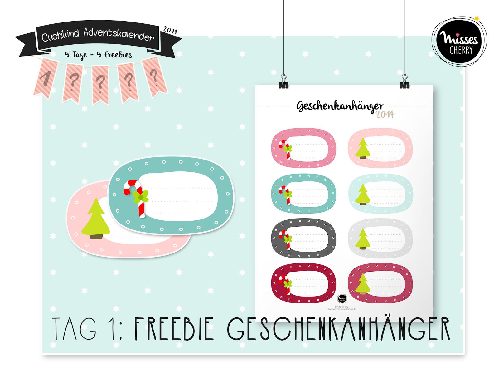 Download: Freebie Geschenkanhänger Weihnachten free printable ...