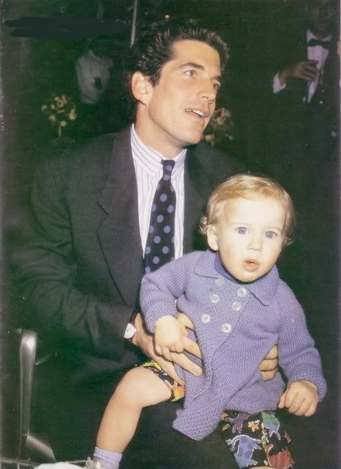 ohn Kennedy Jr and his adorable goddaughter.