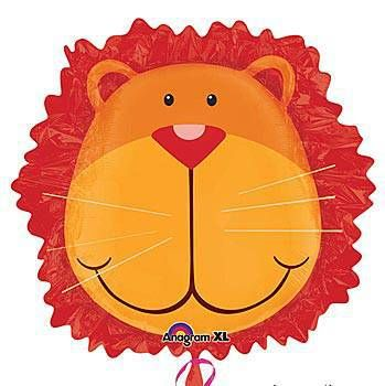 """This adorable lion head mylar balloon is an affordable way to decorate for your party. 6.99 each 24"""""""