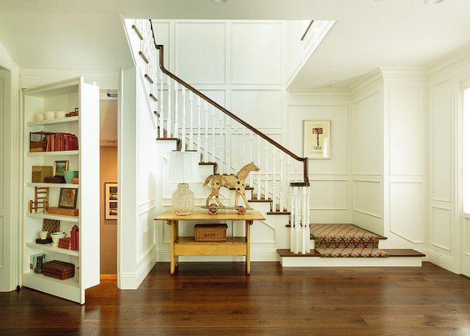 Basement Secret Passage. Foyer with bookcase with secret ...