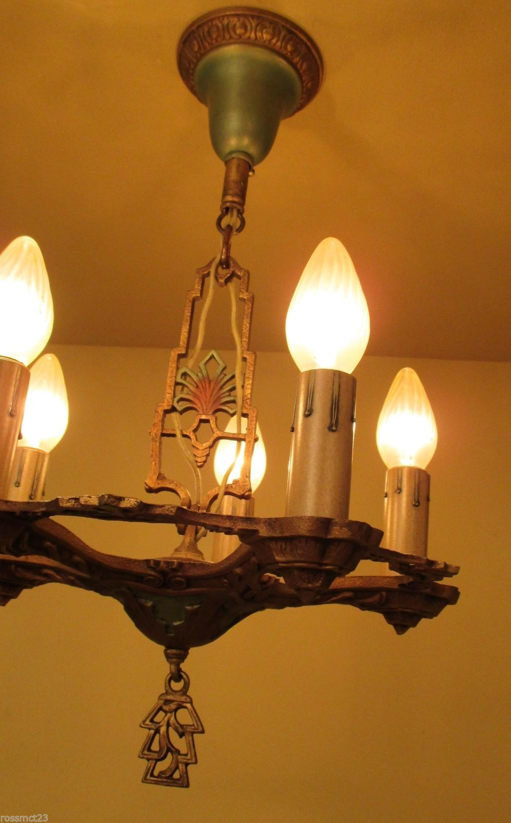 Collectible Sconce Light Fixtures | eBay & Vintage Lighting Matched 1930s LaSalle Set One Chandelier Two ...