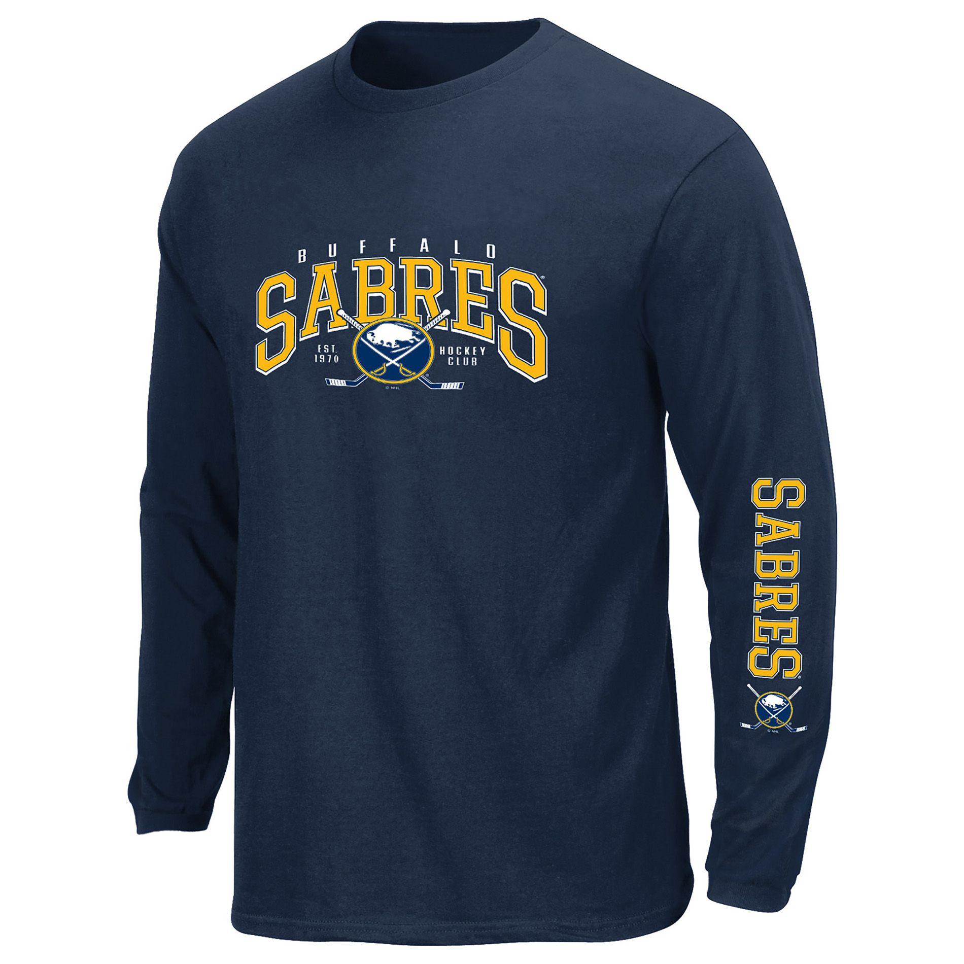 Nhl Mena S Buffalo Sabres Long Sleeve T Shirt Size Large Long Sleeve Tshirt Men Long Sleeve Sleeves [ 1900 x 1900 Pixel ]