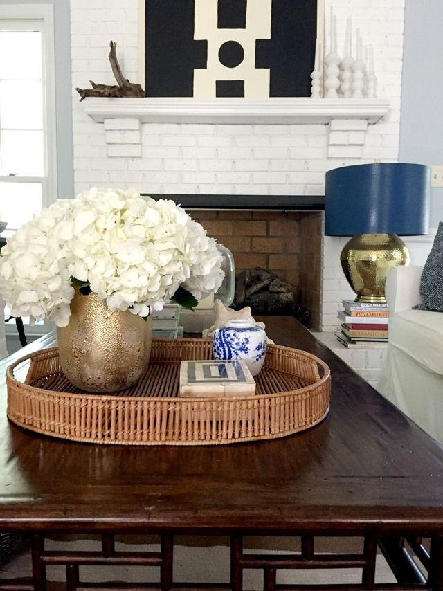 Shades Of Summer Home Tour Black Brown Round Coffee Table