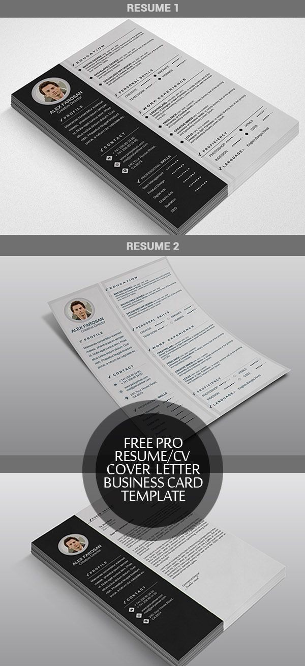Free ResumeCv  Cover Letter  Business Card Template  Landng