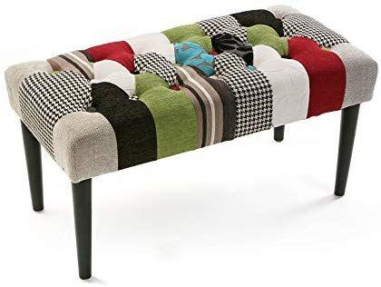 Versa panca da camera da letto bl gr patchwork