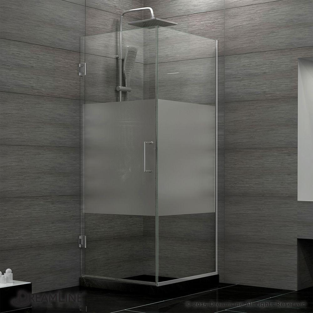 Unidoor Plus 30 3 8 Inch X 30 Inch X 72 Inch Hinged Shower