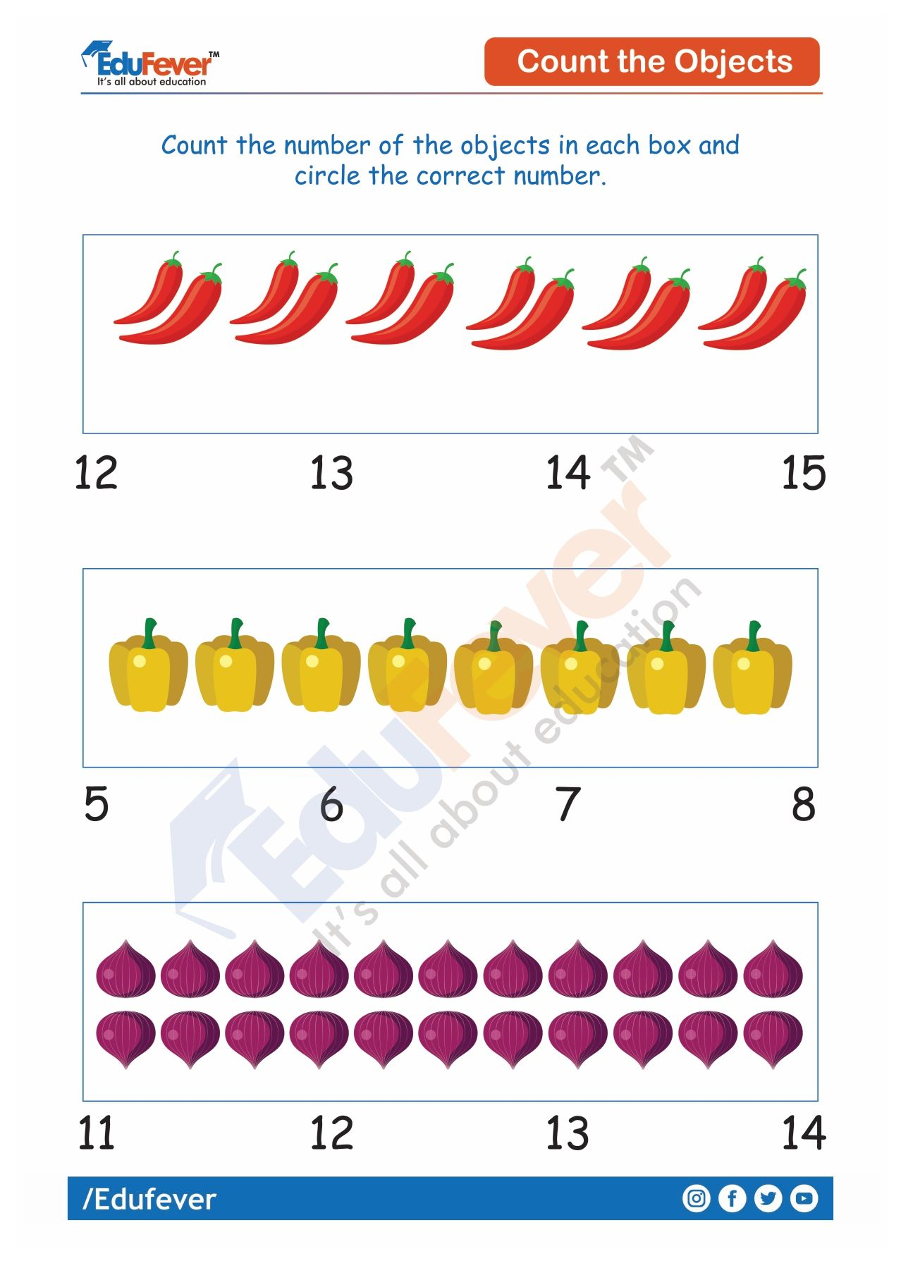 Count And Circle The Number Ukg Worksheets Counting For Kids Math Worksheet Preschool Learning [ 1792 x 1278 Pixel ]