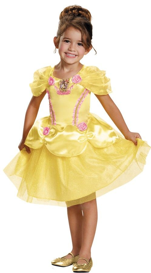 Belle Classic Disney Princess Beauty /& The Beast Fancy Dress Girls Child Costume