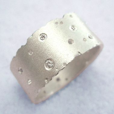 Silver and diamond ring | Contemporary Rings by contemporary jewellery designer Kate Smith