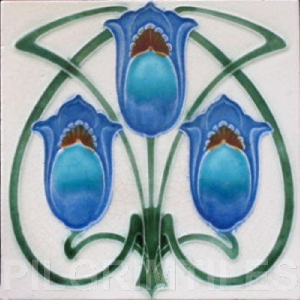 Details about Art Nouveau Arts & Crafts Ceramic Tiles Fireplace Bathroom Kitchen an 65