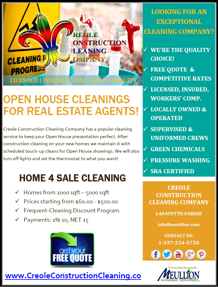 Open House Cleanings For Real Estate Agents Clean