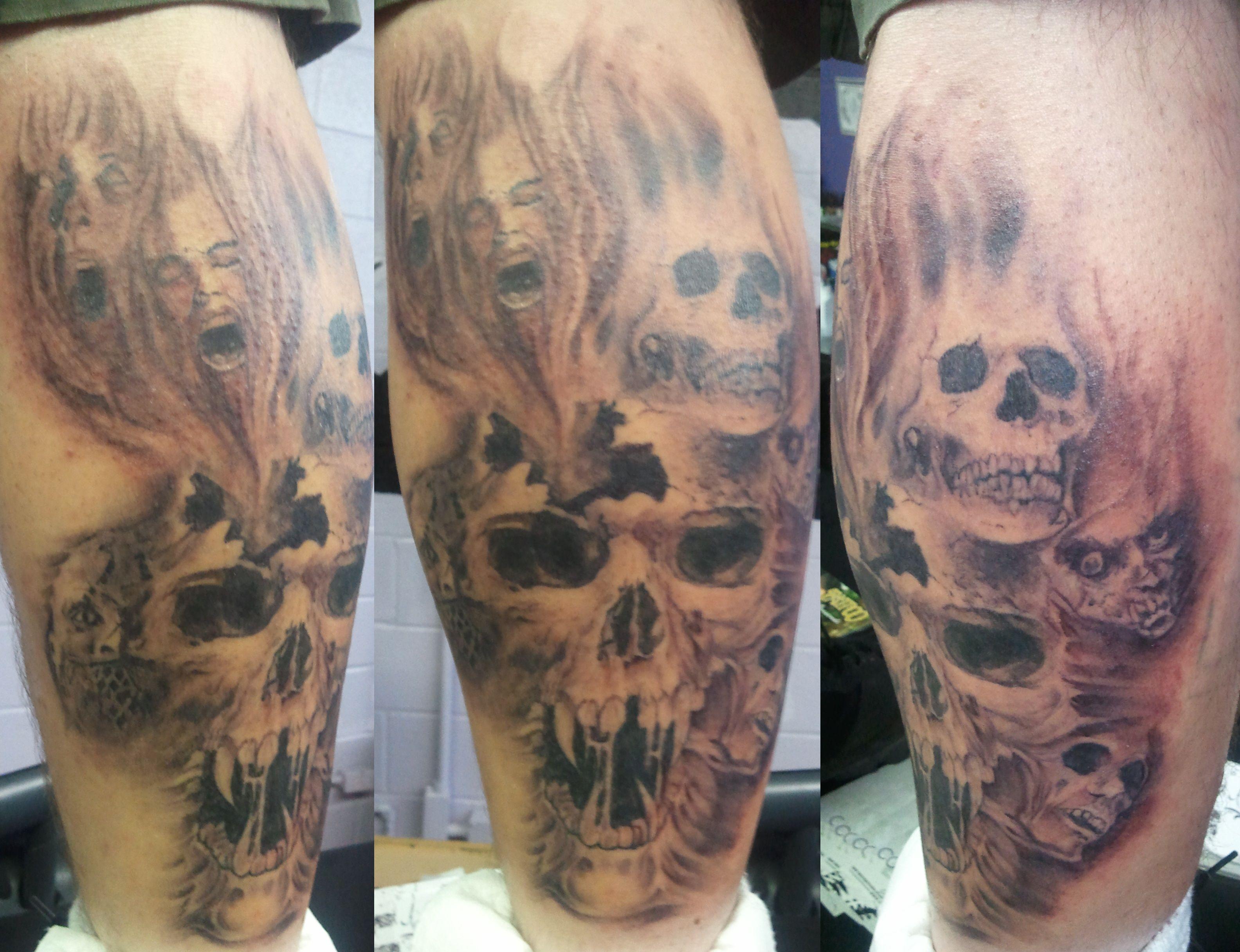 horror movie zombies skulls ghosts tattoo arthur