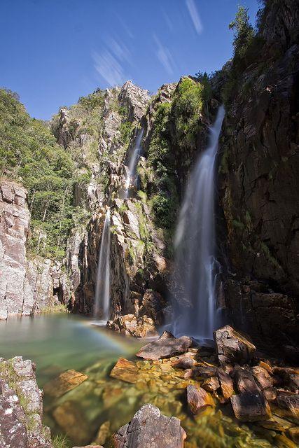Parida Waterfalls (Cachoeira da Parida) - Sacramento, Minas Gerais, Brasil.