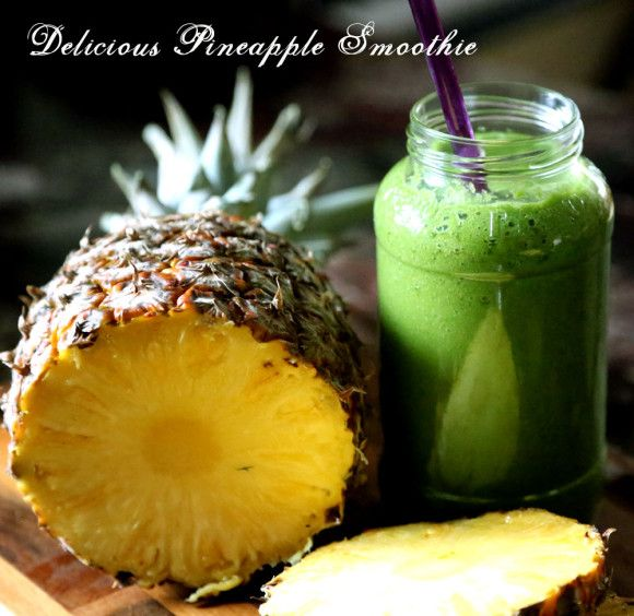 pineapple smoothie with kale