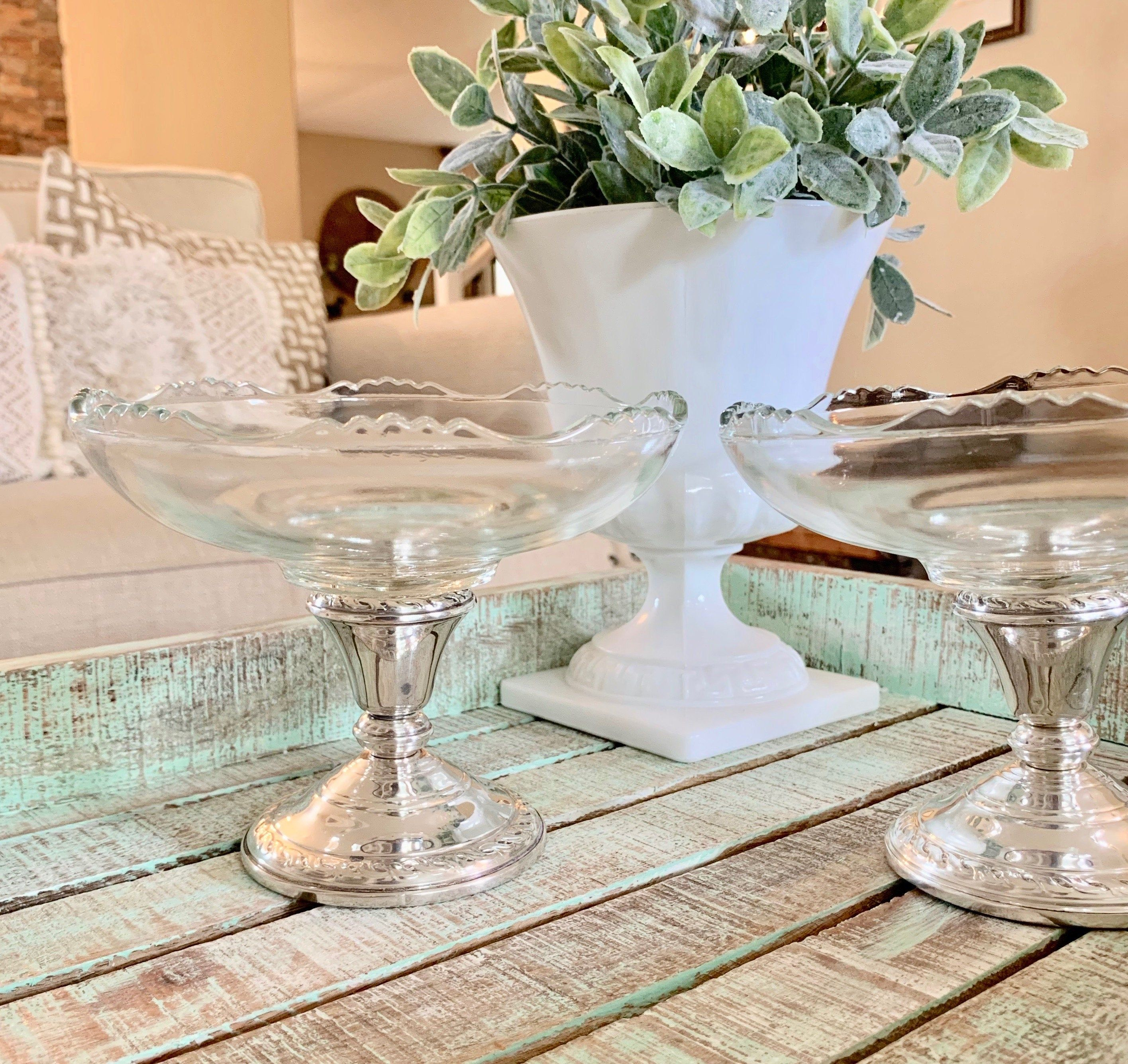 Amston 540 set of two sterling silver reinforced glass