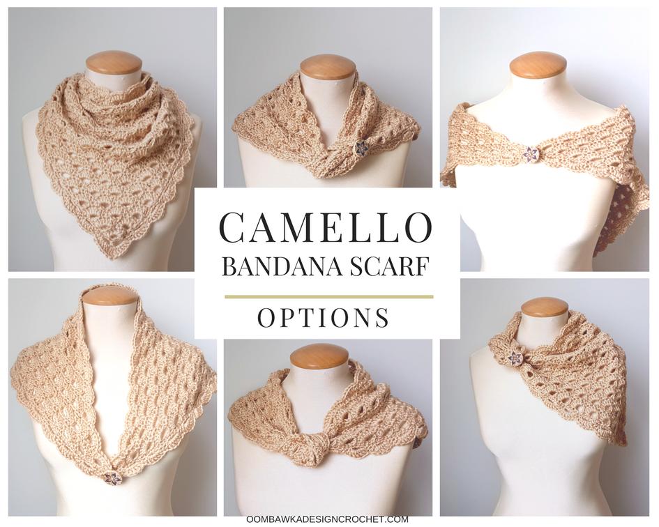 Camello Bandana Scarf | bufandas | Pinterest | Croché, Ganchillo y Scarf