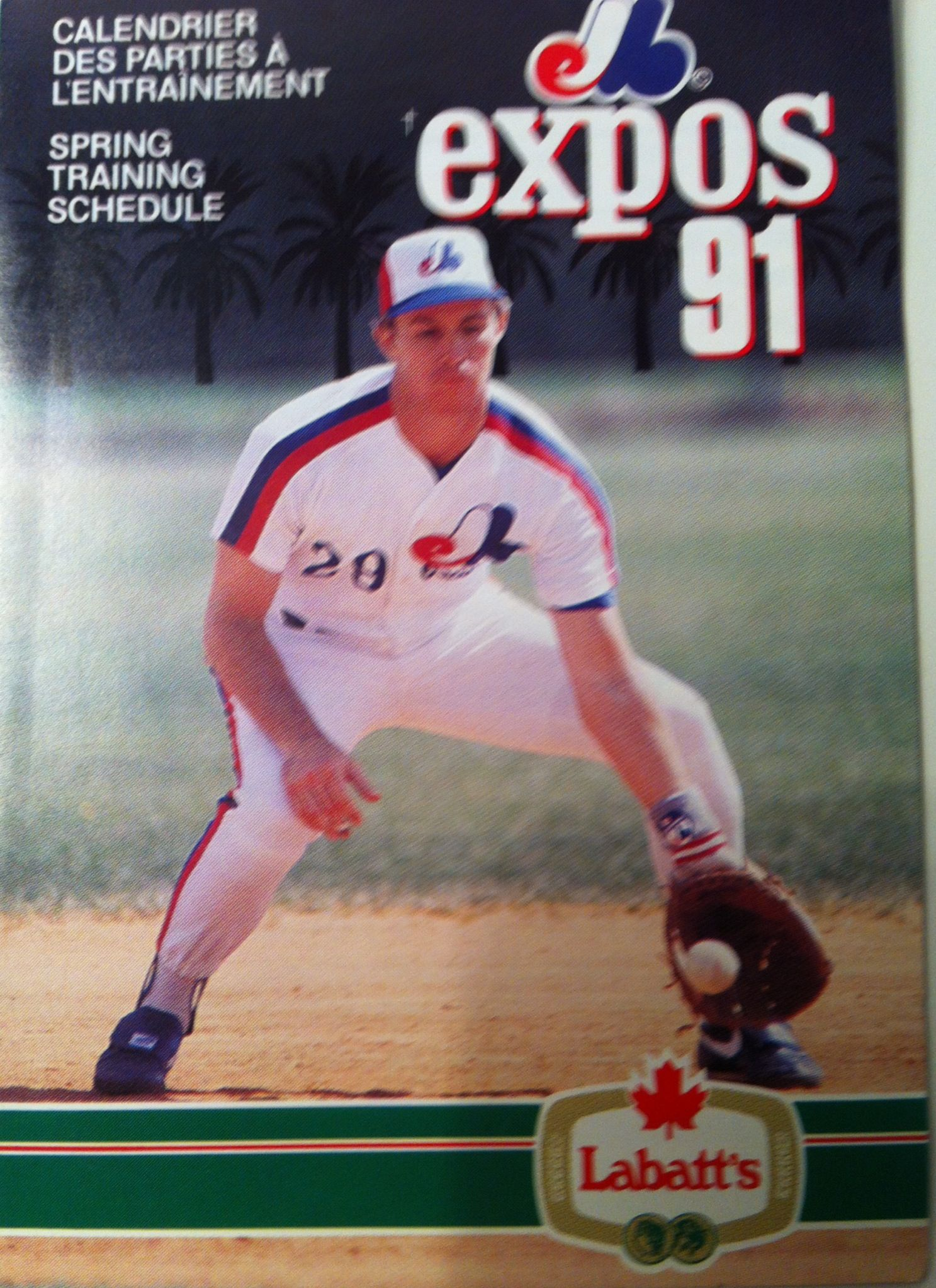 1991 Spring Training program