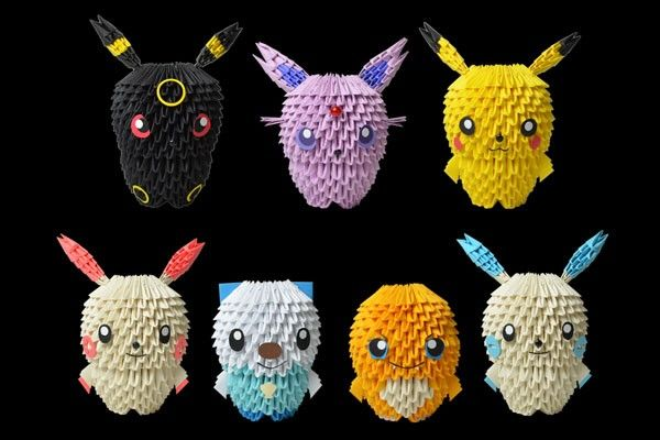 2014pokemonjpg 600215400 origami people pinterest