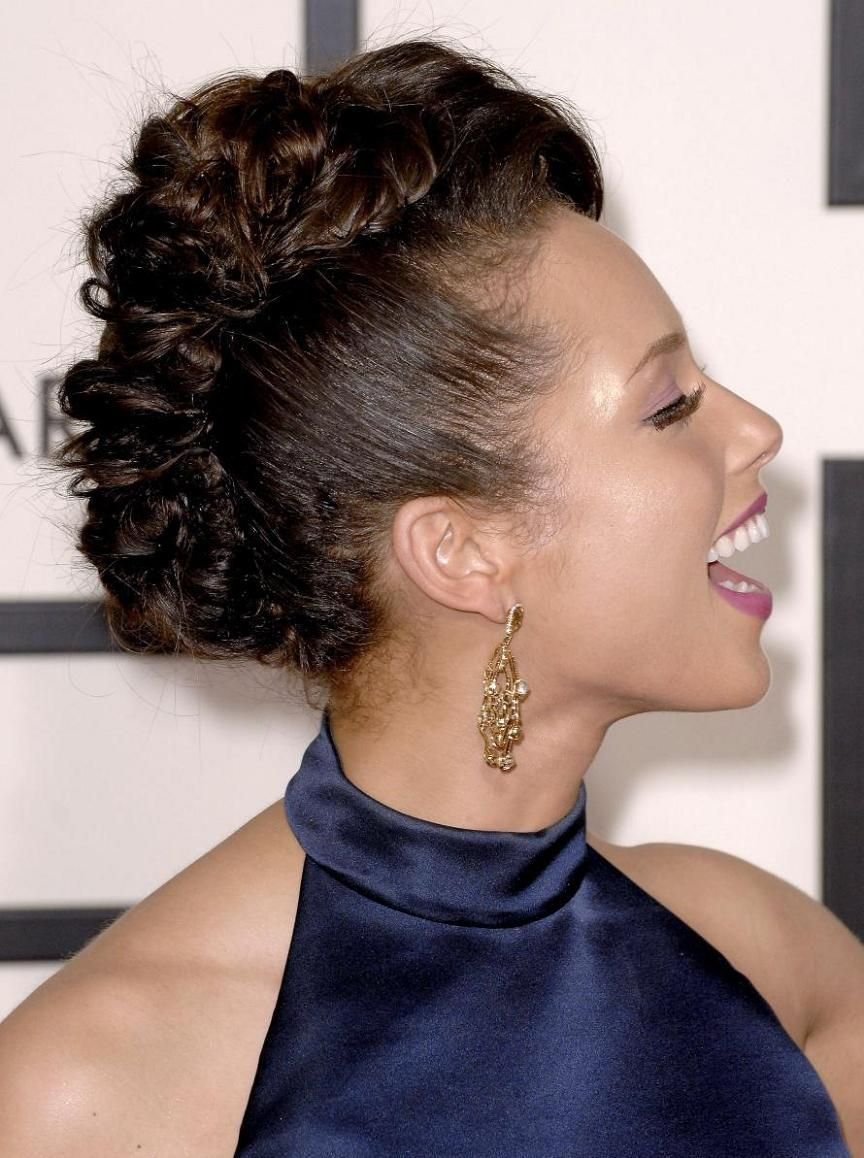 Phenomenal 1000 Images About Alicia Keys Celebrity Hairstyle On Pinterest Short Hairstyles Gunalazisus