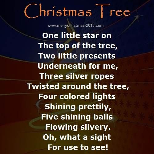 Poem About A Christmas Tree: Christmas Tree Poems Poetry Writing Ideas For Kids