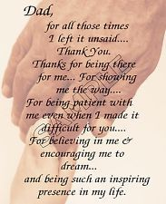 Thank You Dad Poems From Daughter Details About I Love You Dad