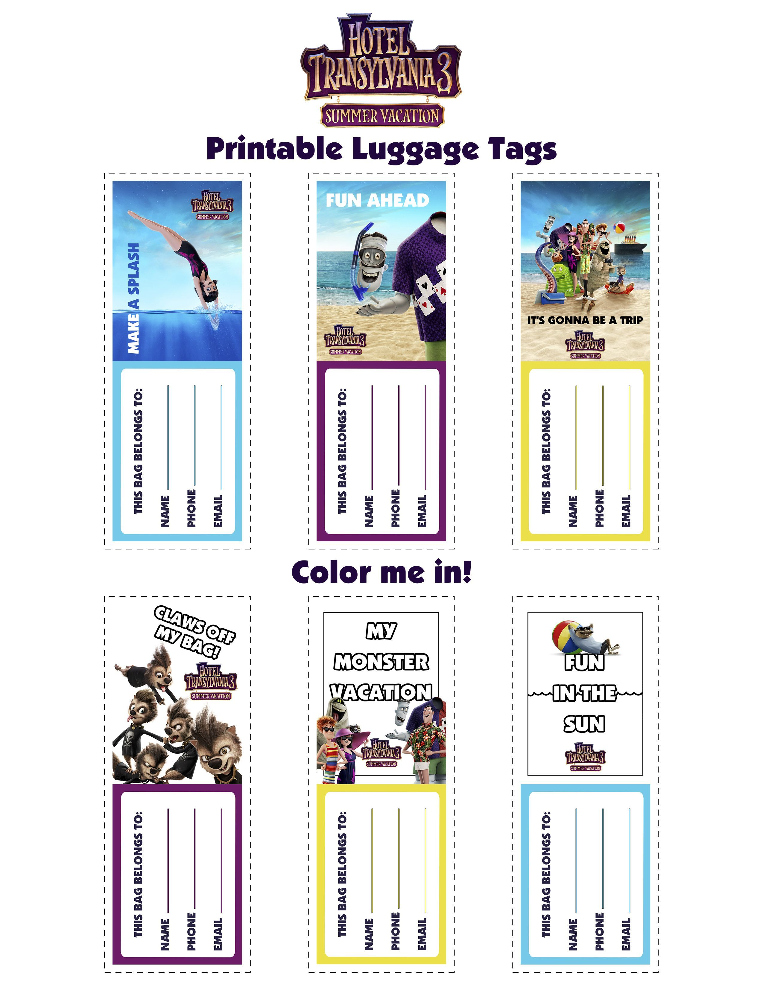 Print At Home Luggage Tags For Your Family Vacation Printable Diy Luggage