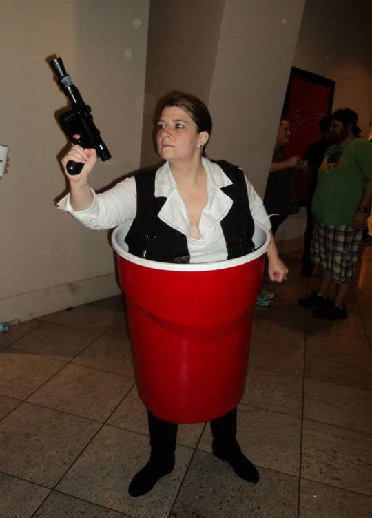 The Han Solo Cup Geektastic things!! \u003c3 NERDGASM \u003c3 Pinterest - cheap funny halloween costume ideas