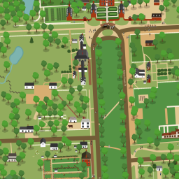 Tour The Town Williamsburg Interactive Map With Info And - Colonial williamsburg map