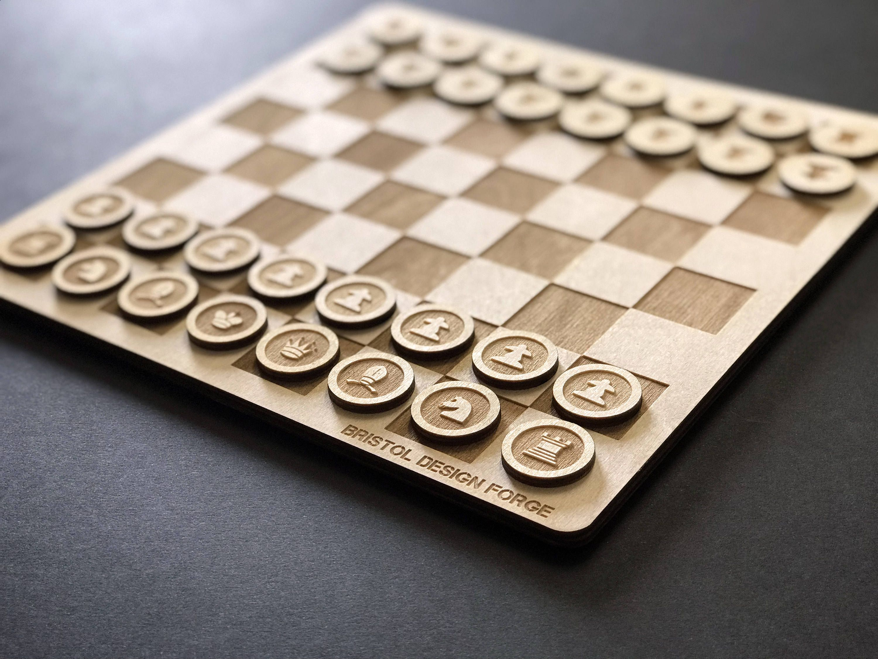 Laser cut from 4mm Birch plywood Numbers
