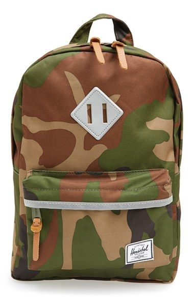 Herschel Supply Co.  Heritage - Camo  Backpack (Kids) available at ... 193e65eee25fd