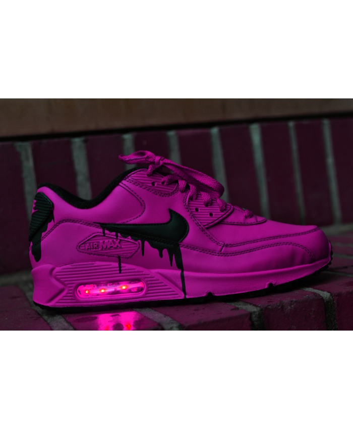 18fa3ccf1fa Nike Air Max 90 Candy Drip Leather Peachblow Black Trainer UK ...
