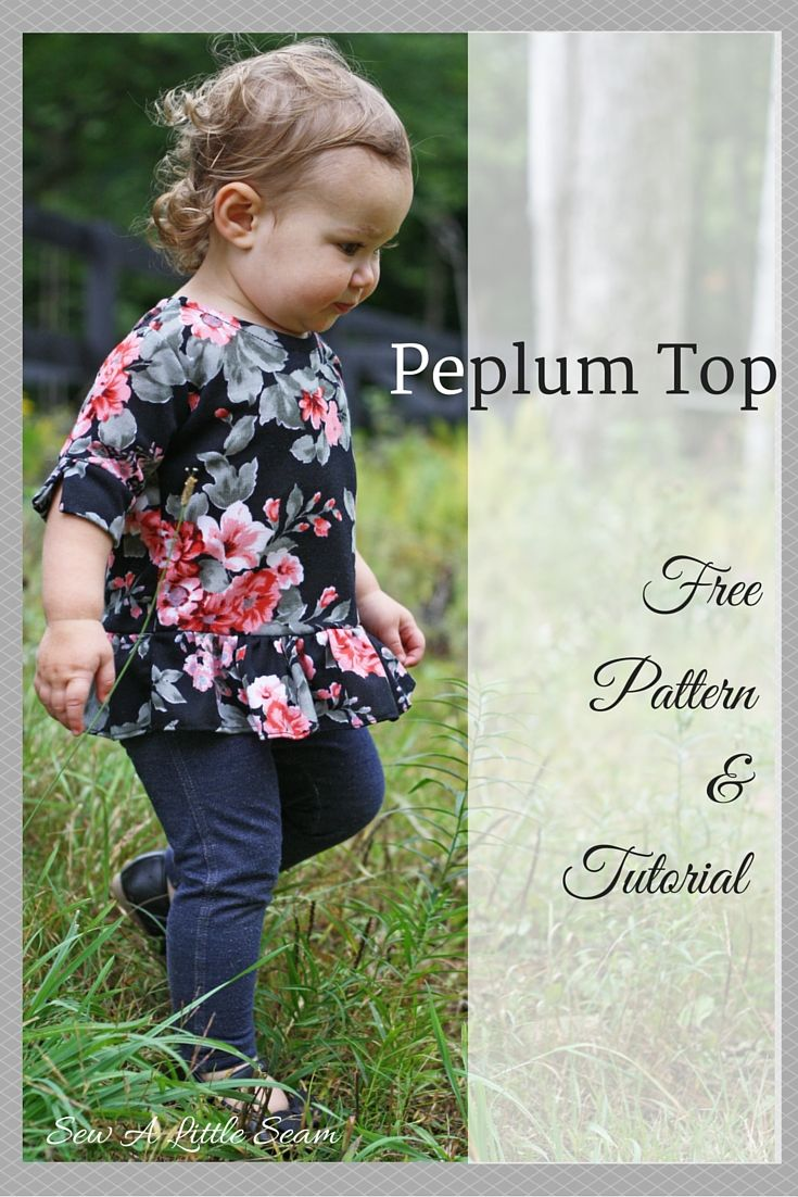 This week I made a little peplum top out of some floral ponte from Girl Charlee. This particular ponte was light and flowy, and it worked nicely for this project. A heavier ponte would also work though, or even a light weight French terry. The 3/4 length sleeves have a little slit for some added detail. This top is another example of how you can modify a simple bodice pattern …