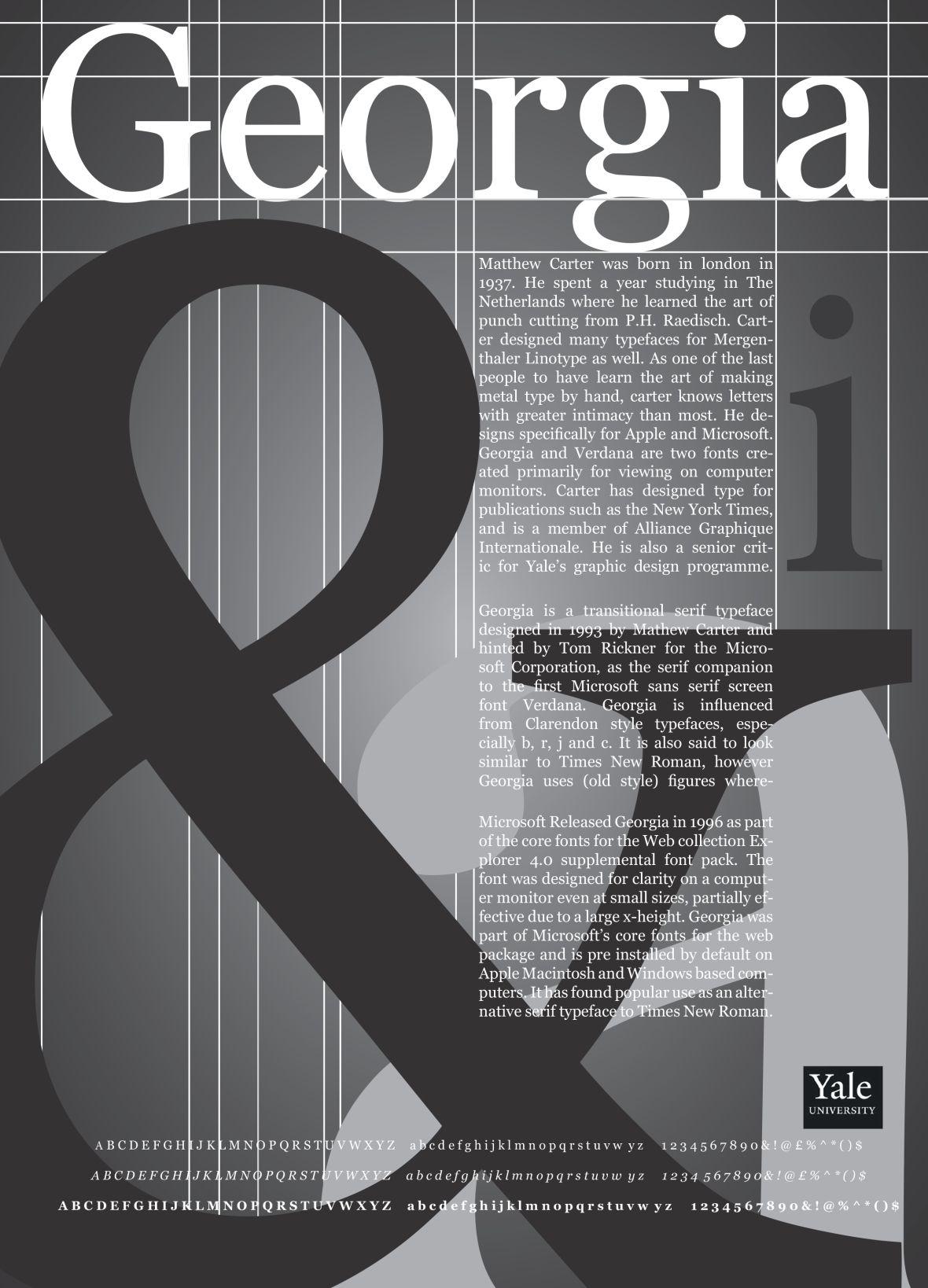 Type Specimen Poster Typographic poster, Types of