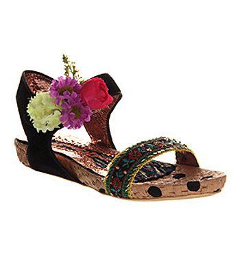 Irregular Choice Ring My Bell Sandal Black Shoes Womens Sandals Shoes Office Shoes Black Shoes Women Black Sandals Sandal Fashion