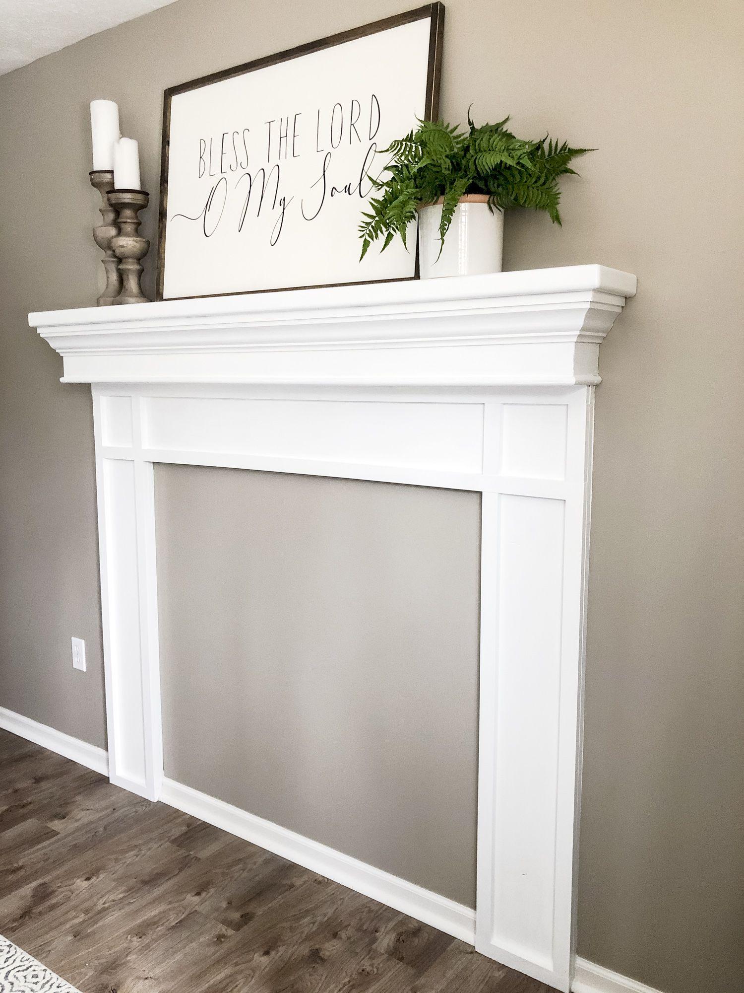 Photo of DIY Faux Fireplace Mantel Tutorial