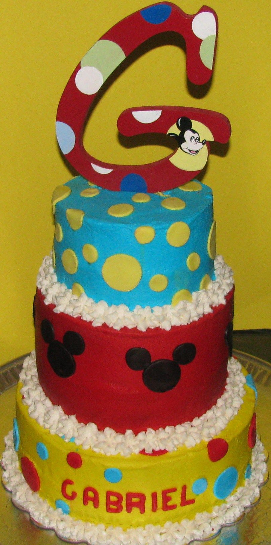 Baby Mickey Mouse Edible Cake Decorations Baby Mickey Mouse Cakes Mickey Mouse Baby Shower Cake 1st Bday