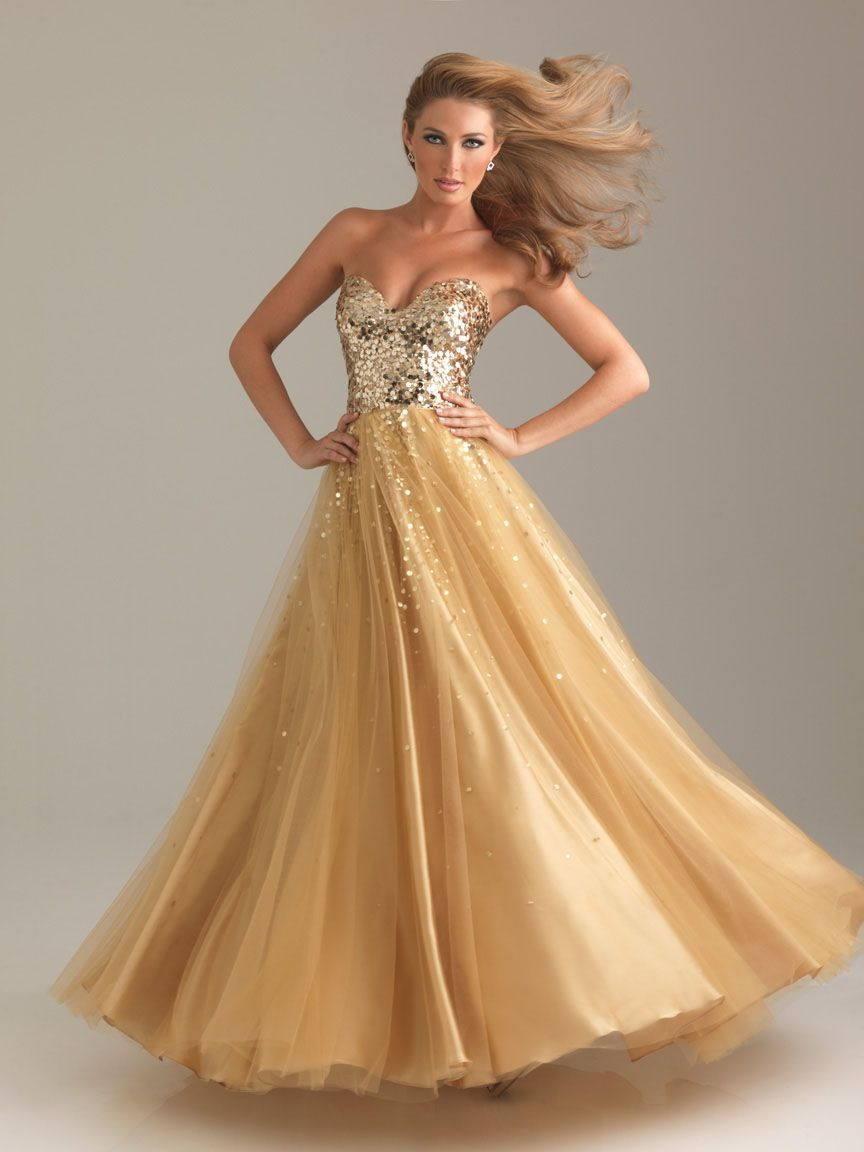 Ball gown sweetheart sequin long gold dress books worth reading