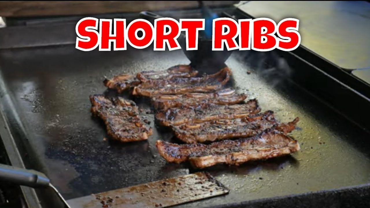 Korean Style Short Ribs Flanken Ribs On The Blackstone Griddle Youtube Flanken Ribs Short Ribs Short Ribs Flanken Style Recipe