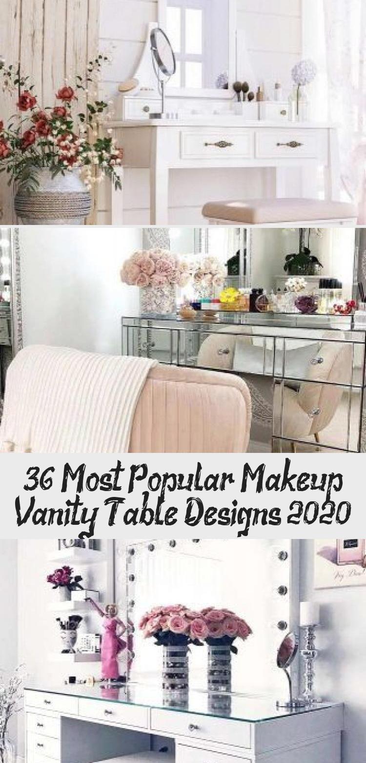 Photo of 36 Most Popular Makeup Vanity Table Designs 2020 – Bilgi Tahtası #makeuptable E…